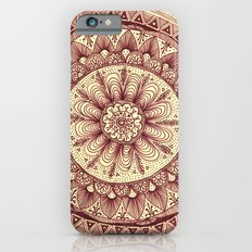 mandala: maroon Slim Case iPhone 6s