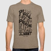 PLEASE PLEASE PLEASE... Mens Fitted Tee Tri-Coffee SMALL