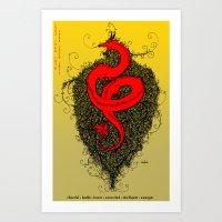 Chinese Zodiac Dragon Art Print