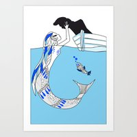 Pisces / 12 Signs of the Zodiac Art Print