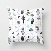 PASTEL GARDENS Throw Pillow
