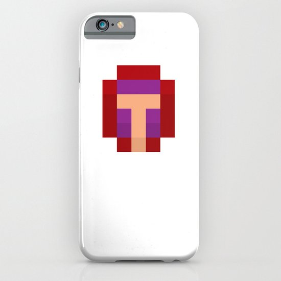 hero pixel purple red iPhone & iPod Case