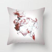 Ink Dispersion Throw Pillow