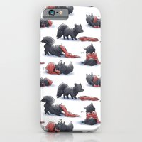 iPhone Cases featuring Wolf & Hoodie by Yiji