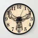 Mr Deer Wall Clock