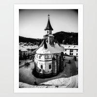 The Katholikon At Putna … Art Print
