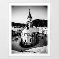 The Katholikon At Putna … Art Print