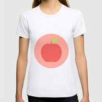 #65 Apple Womens Fitted Tee Ash Grey SMALL