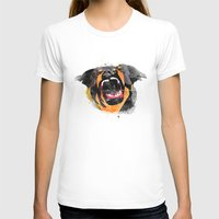 perro Womens Fitted Tee White SMALL