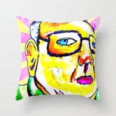 Kim Jong Il has Pretty Lips Throw Pillow