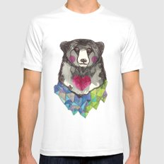 Bear yeah SMALL White Mens Fitted Tee