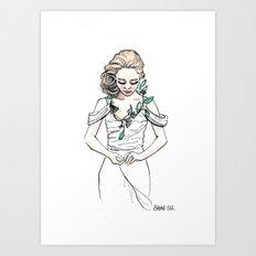 Blooming Bride Art Print
