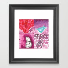 Fish, Bear, Giraffe and Mouse Framed Art Print