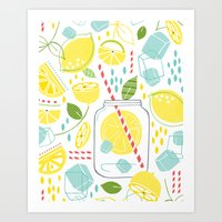 Summer Sippin' Art Print