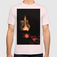 Dead Romance Mens Fitted Tee Light Pink SMALL