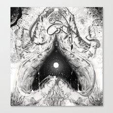 Cosmic Heart Beat 'Mono Dual'   Canvas Print