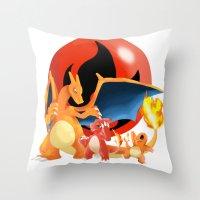 Spit Fires Throw Pillow