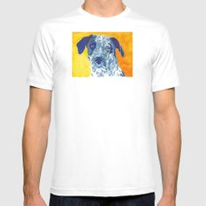Party Dog White SMALL Mens Fitted Tee