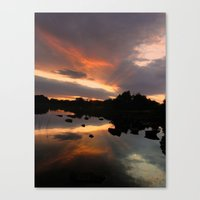 Ireland sunset Canvas Print