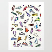 sneakers addiction Art Print