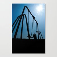 Abandoned Swing Set Canvas Print