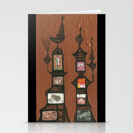 I Love You, Hundertwasser #5 Stationery Card