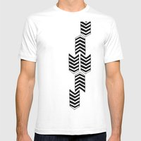 ARROW RAIN Mens Fitted Tee White SMALL