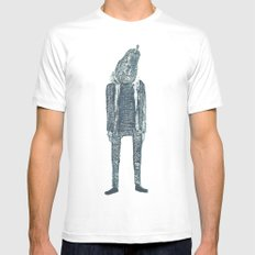 monsieur poire White Mens Fitted Tee SMALL