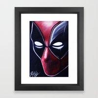 DEADLY HERO Framed Art Print