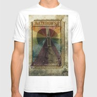Rainbows ? Mens Fitted Tee White SMALL