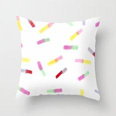 Happy Capsules Throw Pillow
