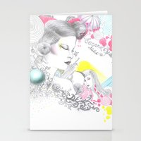 Rainbow Tears Stationery Cards