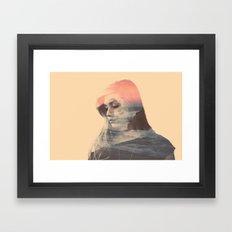 Wild Lion (Double Exposure) Framed Art Print
