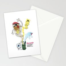 Recycled Paper Monsters Stationery Cards