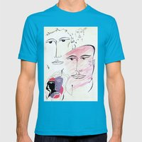 four seasons Mens Fitted Tee Teal SMALL