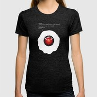 Strange Morning Womens Fitted Tee Tri-Black SMALL