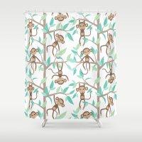 Monkey Jungle Shower Curtain