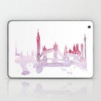 Watercolor landscape illustration_London Laptop & iPad Skin