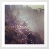 Mountain Lettering Art Print