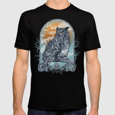 Twilight Owl SMALL Black Mens Fitted Tee