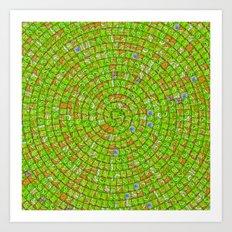 Сarcassonne swirl Art Print