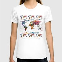 world T-shirts featuring map by mark ashkenazi