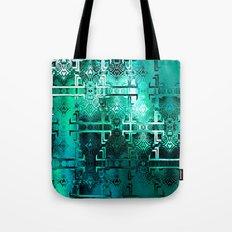 1001 Lights Pattern (eme… Tote Bag