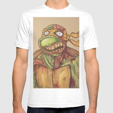 zombie ninja turtle SMALL White Mens Fitted Tee