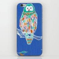 Colorful Owl iPhone & iPod Skin