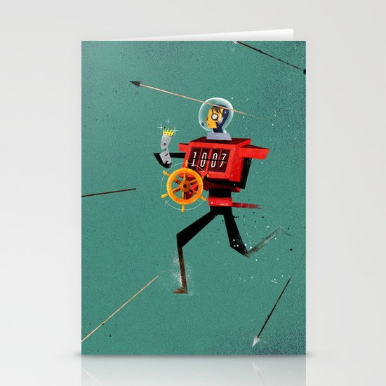The Time Travelling Pirate Stationery Card