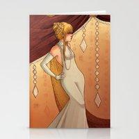 Elegant Diamonds Stationery Cards