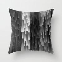 Fringe (Black And White) Throw Pillow