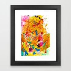 Leo: The Proud Lion (July 23 - August 22) / Gouache Original A4 Horoscope Illustration / Painting Framed Art Print