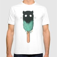 Ice Cat Mens Fitted Tee White SMALL